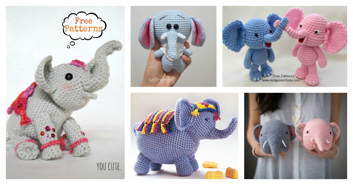 Amigurumi Elephant Pattern : Adorable crochet elephant amigurumi free patterns