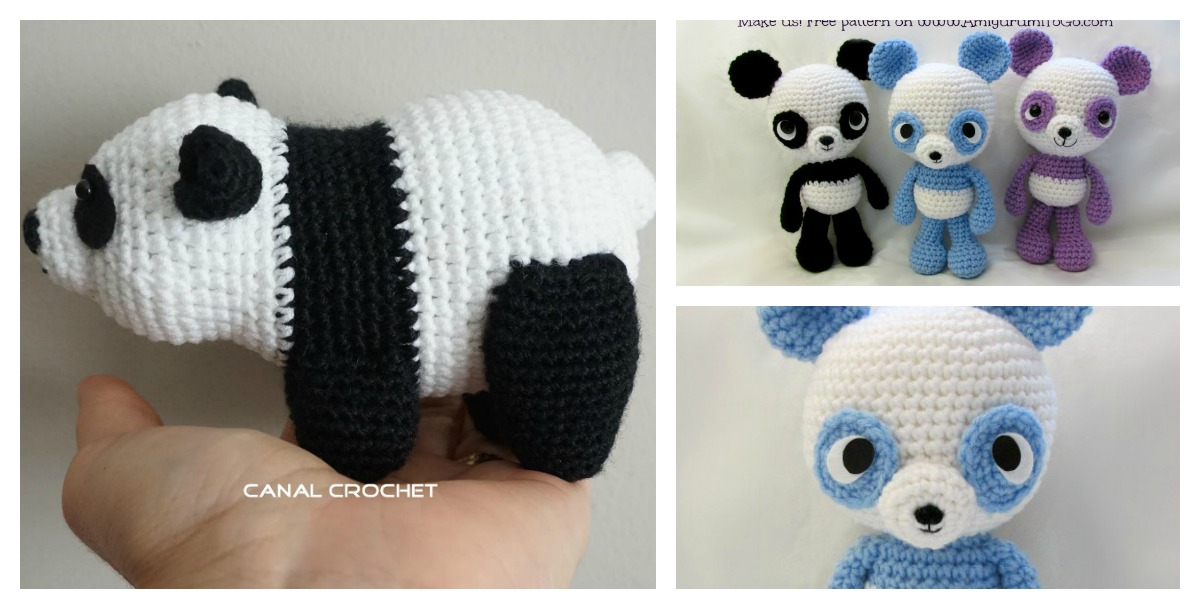 Adorable Panda Bear Amigurumi Free Crochet Pattern