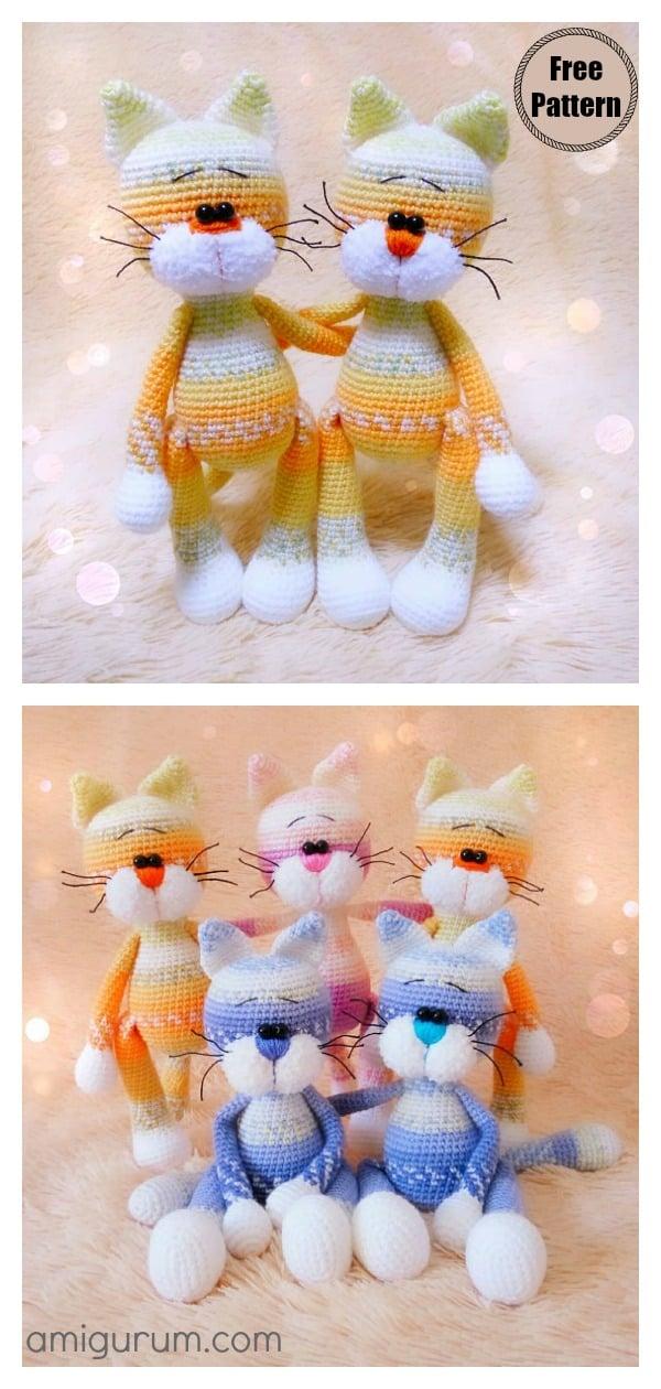 Amigurumi Cat Murzik Free Crochet Pattern