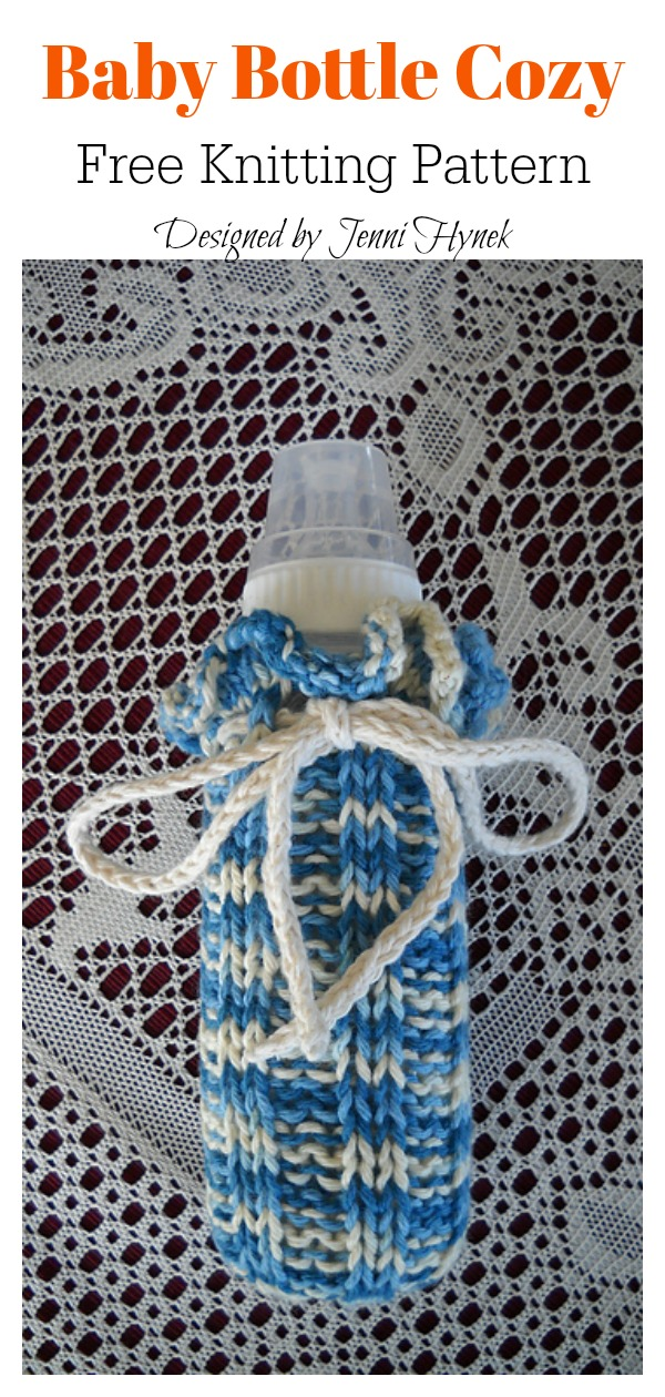 Baby Bottle Cozy Free Knitting Pattern