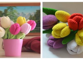 Beautiful Tulip Crochet Pattern and Video Tutorial