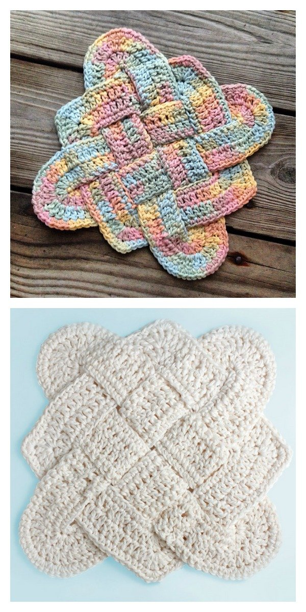 Celtic Knot Dishcloth Free Crochet Pattern