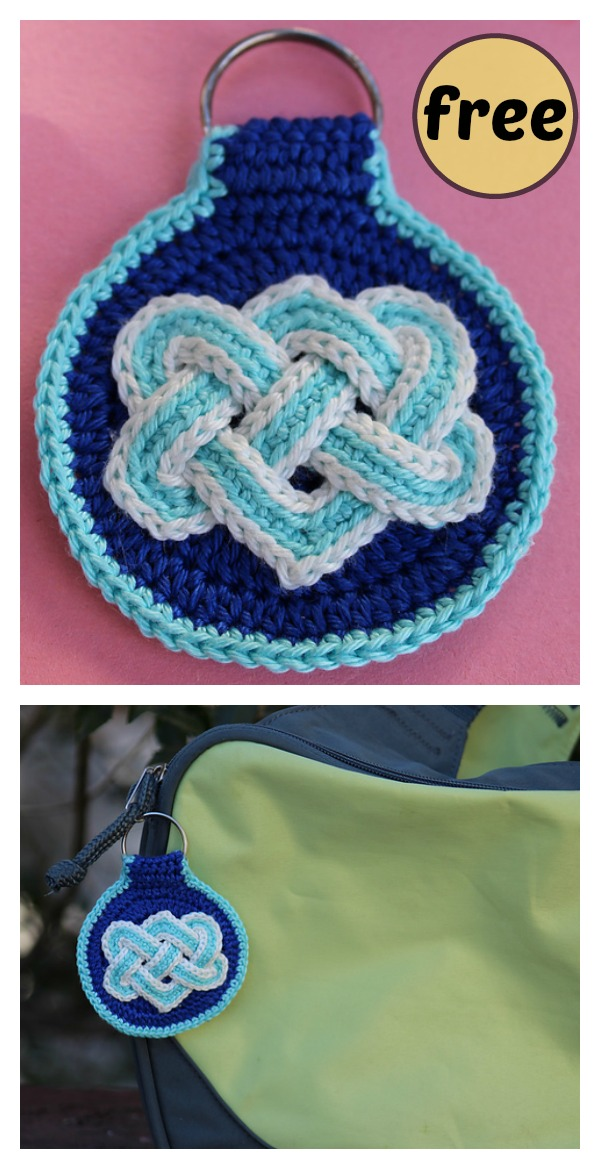 Celtic Knot Key Fob Free Crochet Pattern