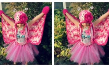 Crochet Butterfly Costume for Little Girl Free Pattern and Video Tutorial