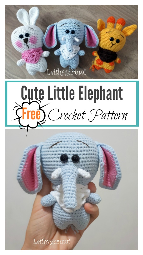 Cute Little Elephant Amigurumi Free Crochet Pattern Cool Creativities