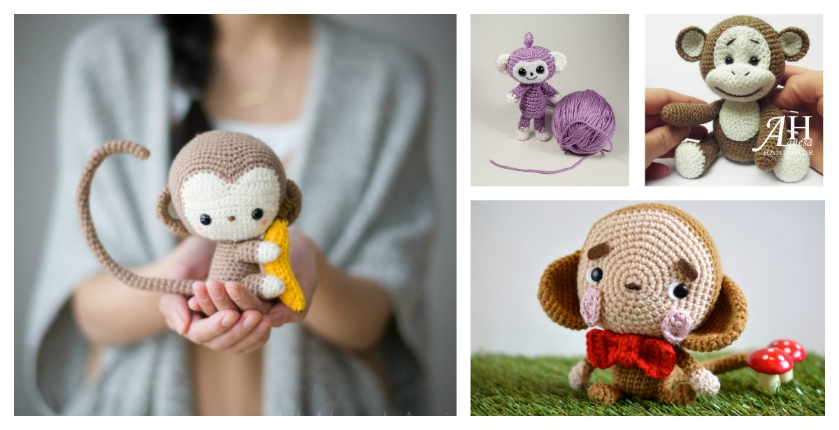 Easy Amigurumi Cute : Free Monkey Amigurumi Crochet Patterns