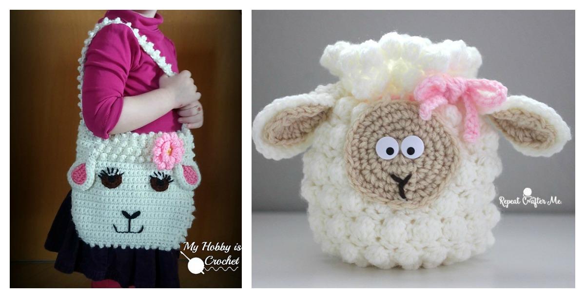 Cute Sheep Bag Free Crochet Pattern