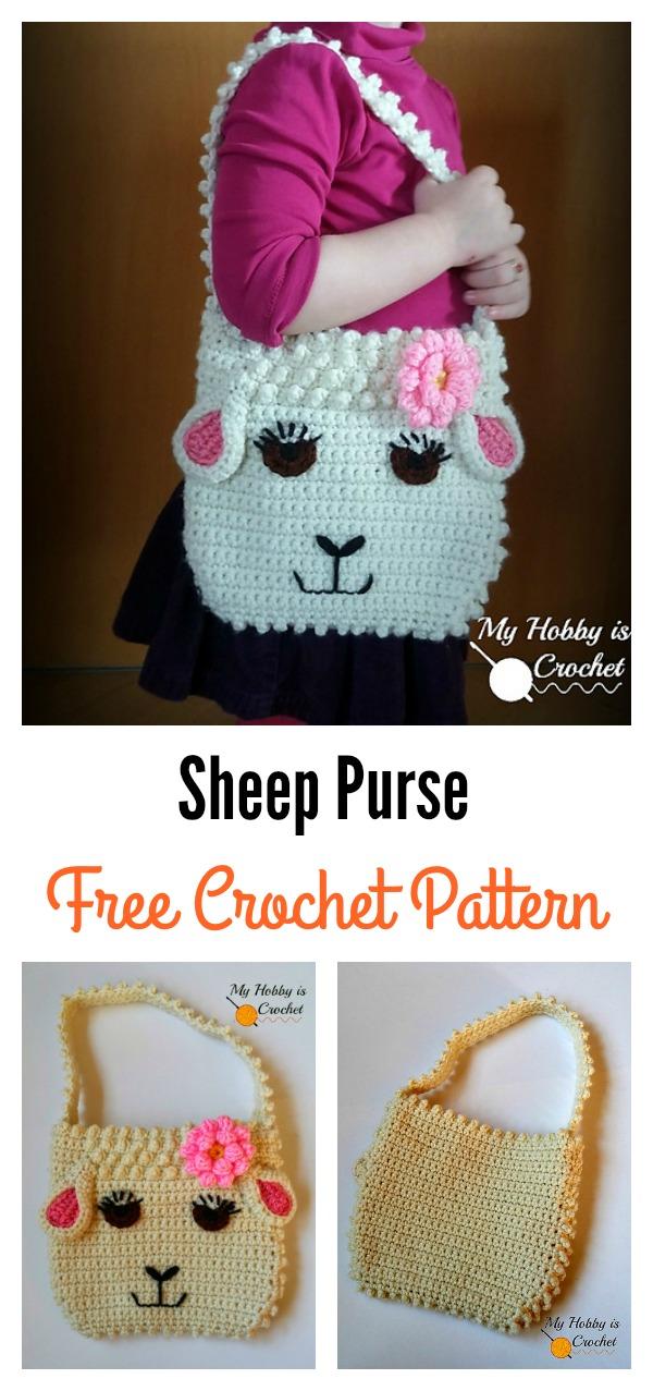 Darling Sheep Crochet Purse for Little Girls Free Pattern