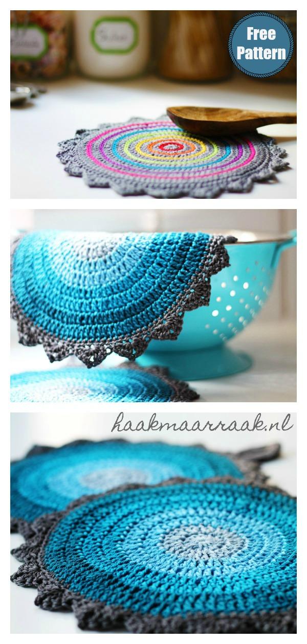 Dutch Skies Potholders Free Crochet Pattern