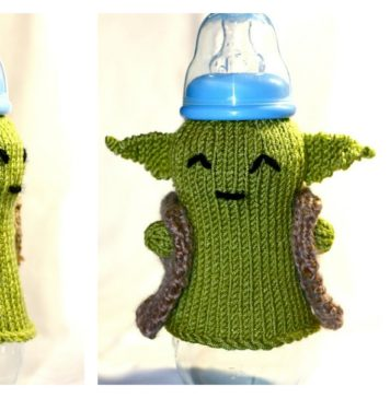 FREE Yoda Baby Bottle Cozy Knitting Pattern