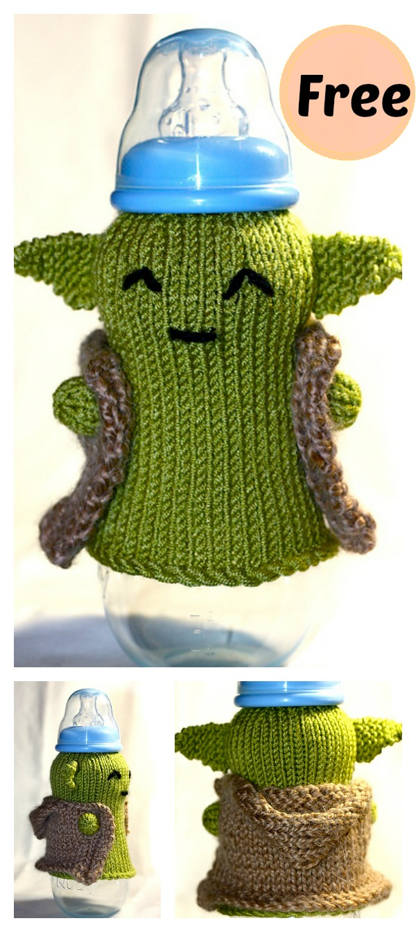 Knitting Pattern For Yoda Tea Cosy : FREE Yoda Baby Bottle Cozy Knitting Pattern