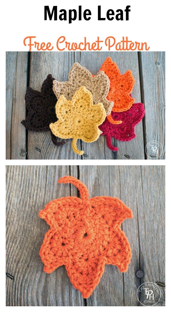 Fall Maple Leaf Free Crochet Pattern