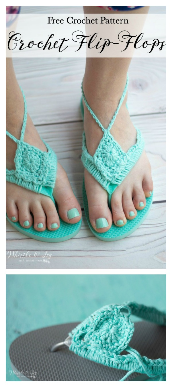 7288ede72d0702 18 Crochet Flip Flops with Free Pattern - Page 2 of 2