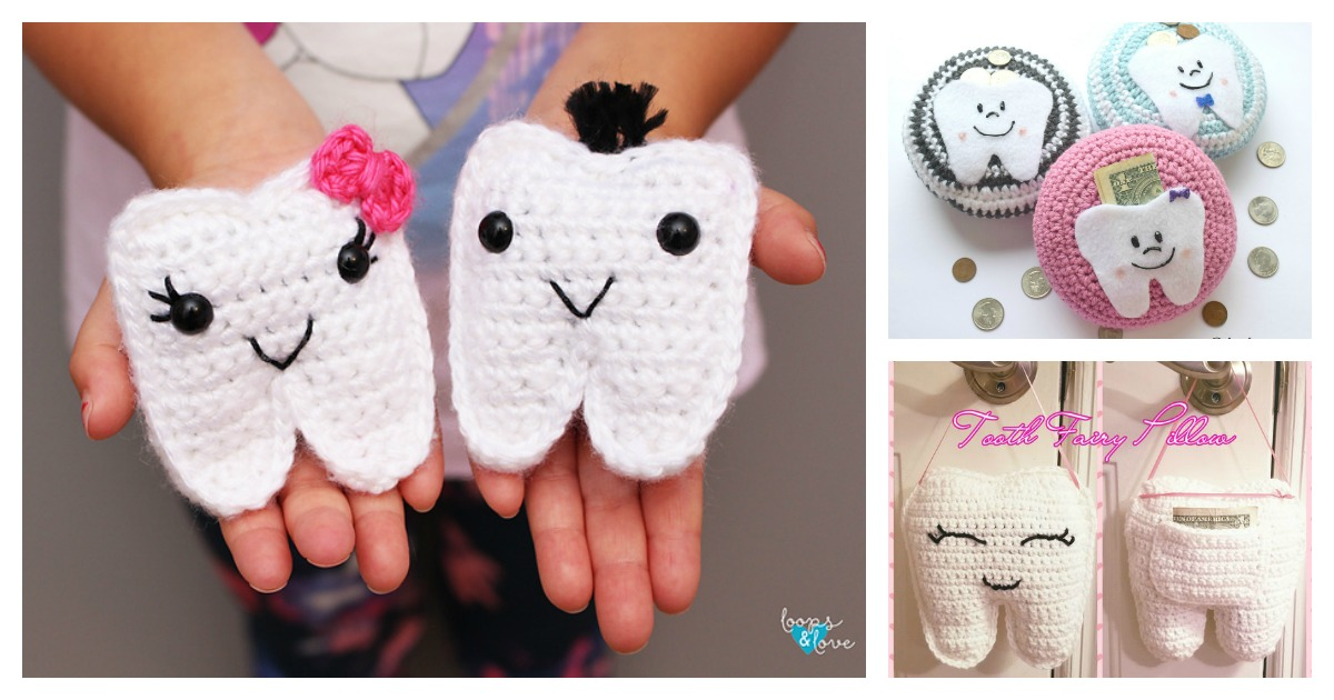Crochet Tooth Fairy Pouch Pattern Video Tutorial   630x1200