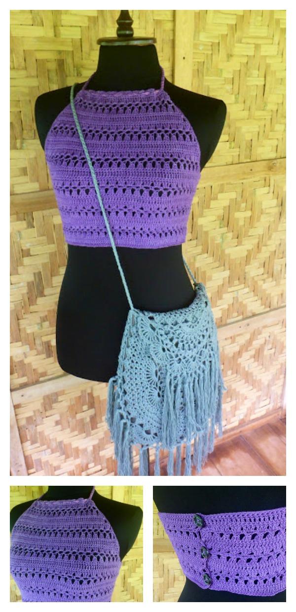 Halter Crop Top Free Crochet Pattern