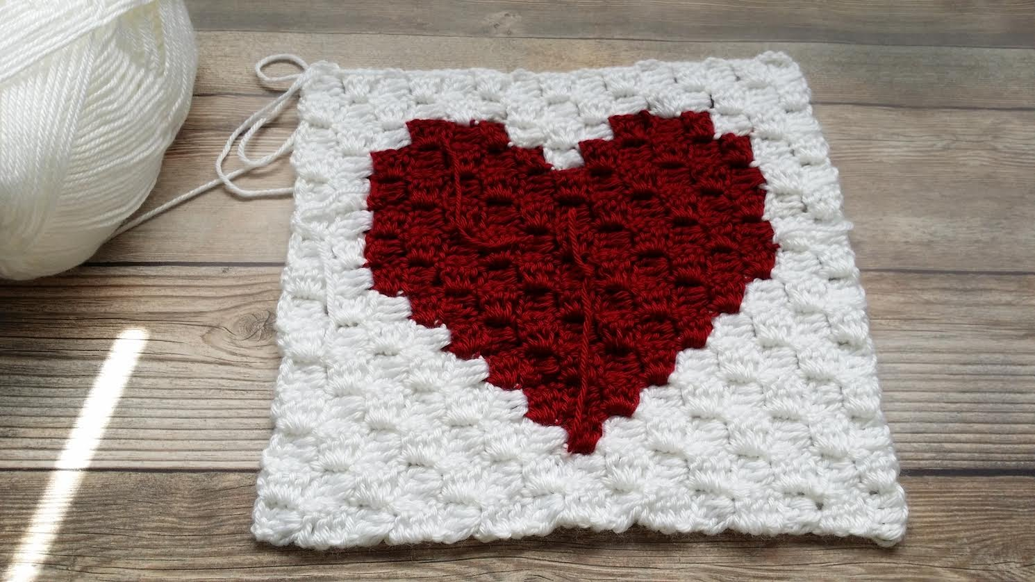 Corner To Corner Heart Blanket Free Crochet Pattern
