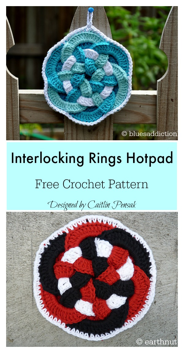 Interlocking Rings Hotpad Free Crochet Pattern