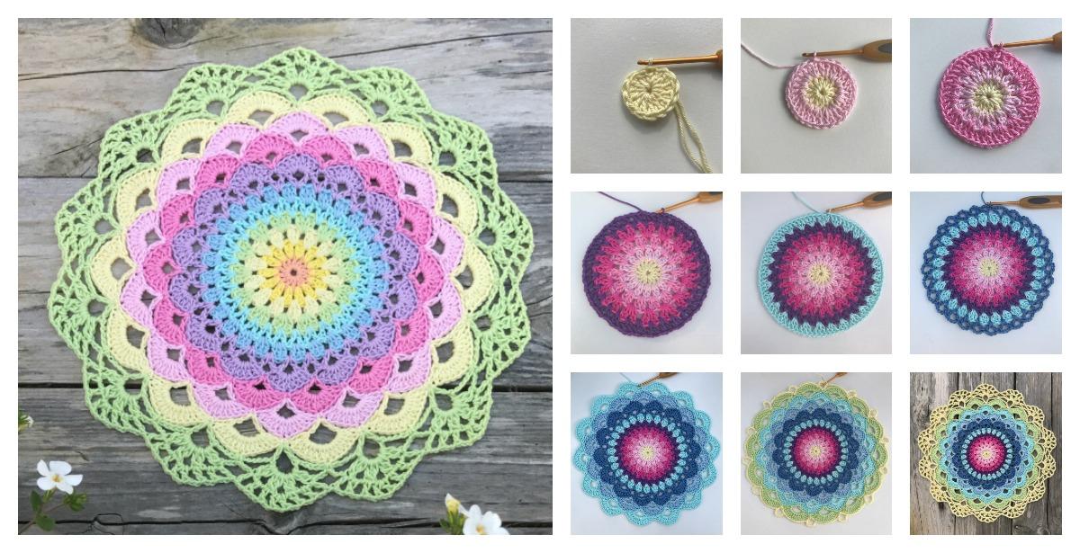 Magic Water Lily Mandala Free Crochet Pattern f