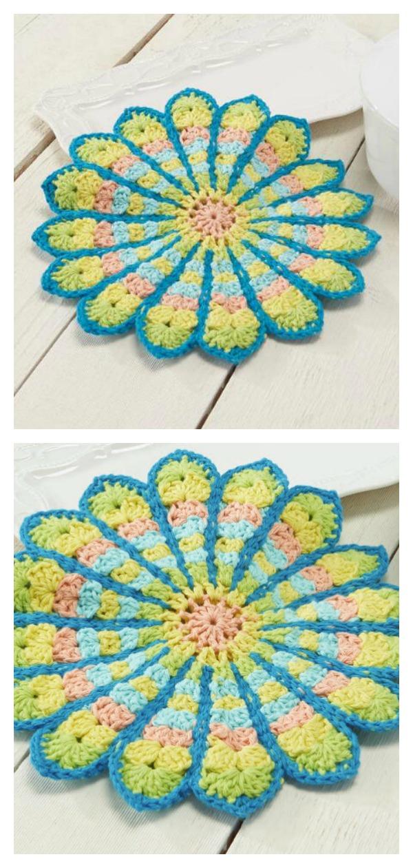 Mandala Pot Holder Free Crochet Pattern