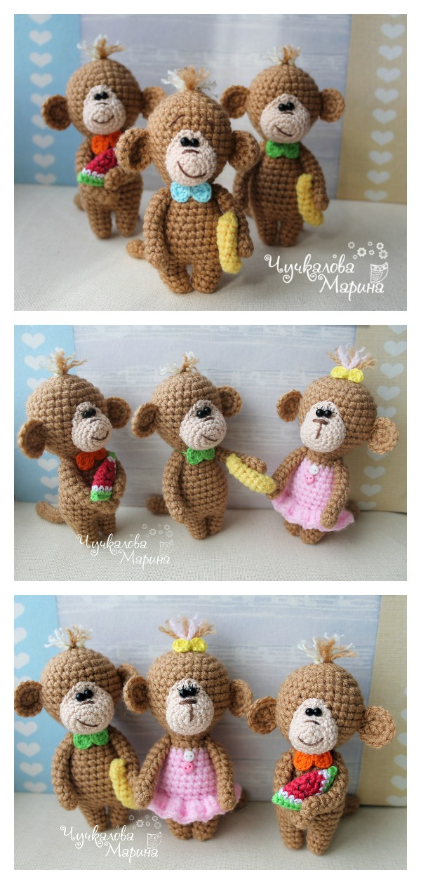 Naughty monkey amigurumi pattern - Amigurumi Today | 1260x600
