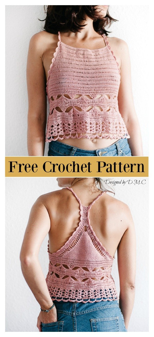 Racer Back Camisole Free Crochet Pattern Cool Creativities