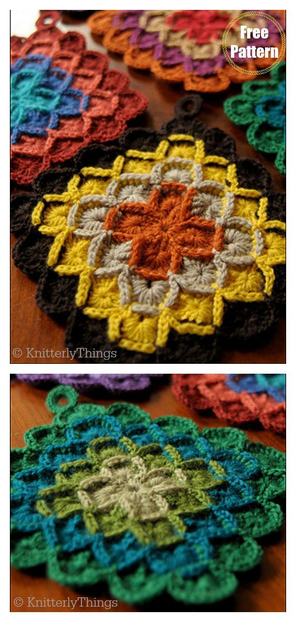 Colorful Swap Potholders FREE Crochet Pattern