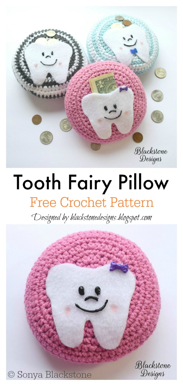 Crochet Tooth Fairy Pillow PATTERN ONLY PDF Pattern | Etsy | 1260x600