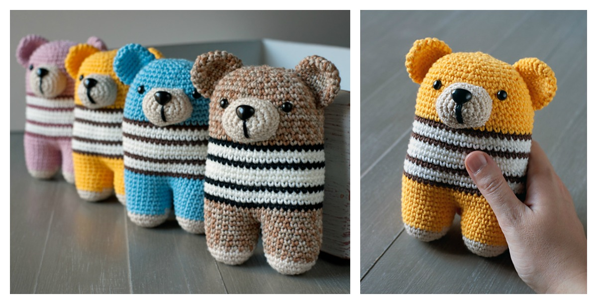 Amigurumi Free Patterns Bear : Adorable bear amigurumi free crochet pattern
