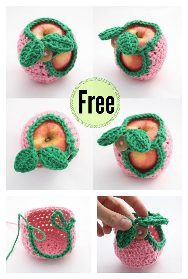 Apple Crochet Cozy Free Pattern