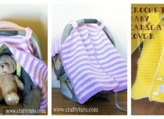 Car Seat Cover Free Crochet Pattern with Peekaboo Opening