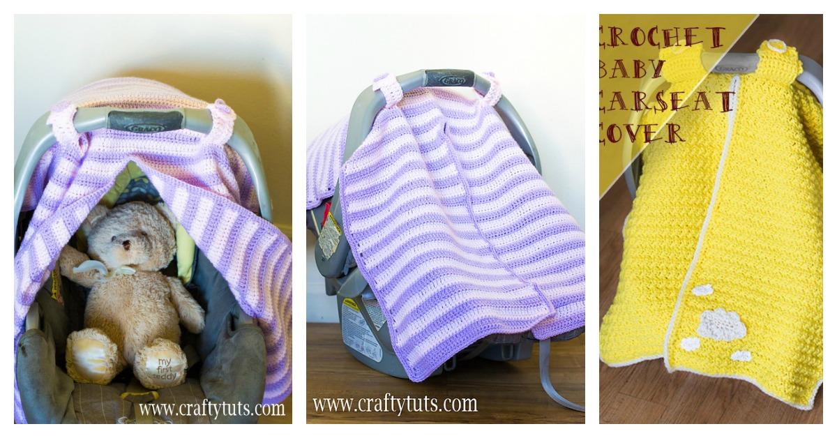 Car Seat Cover Free Crochet Pattern, Crochet Infant Car Seat Cover Pattern Free