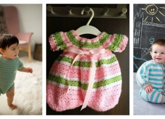 Crochet Baby All-in-One Romper Free Patterns