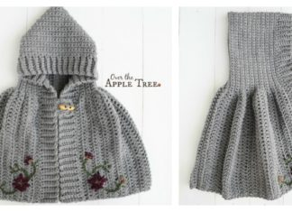 Hooded Cape Free Crochet Pattern for Girl