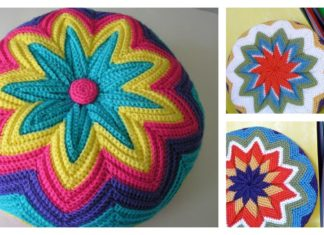 Pinwheel Pillow Free Crochet Pattern