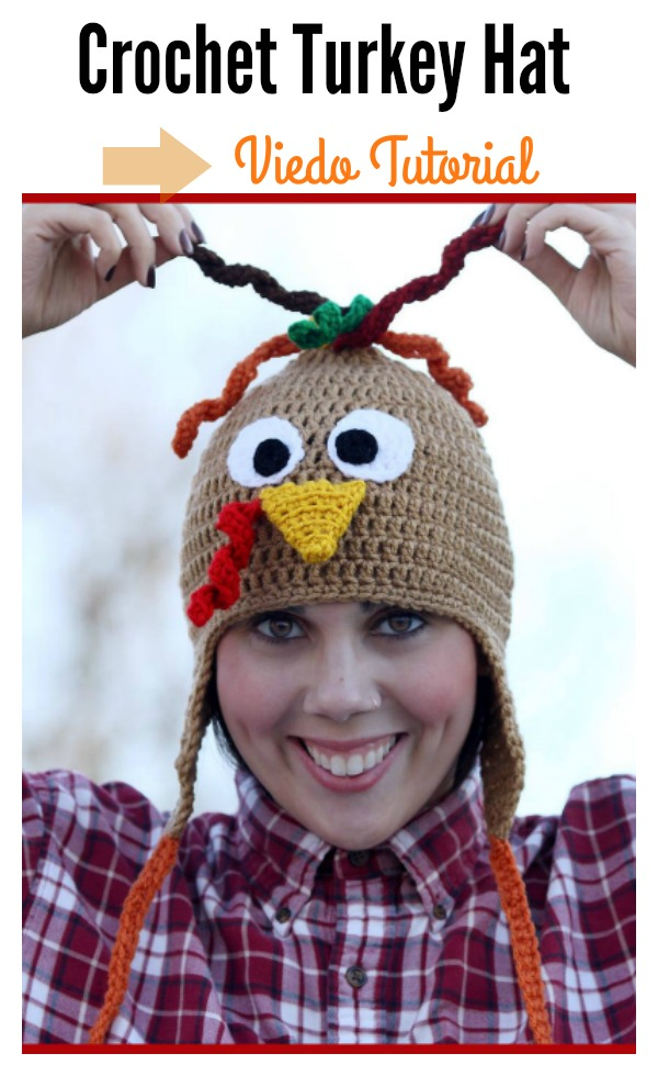 Crochet Turkey Hat Video Tutorial