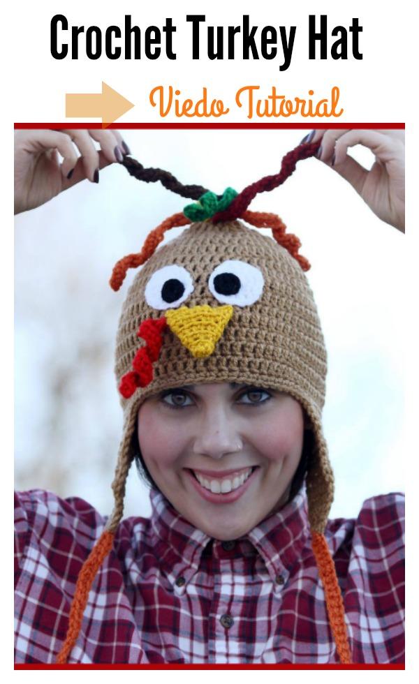 Crochet Turkey Hat Video Tutorial - Cool Creativities
