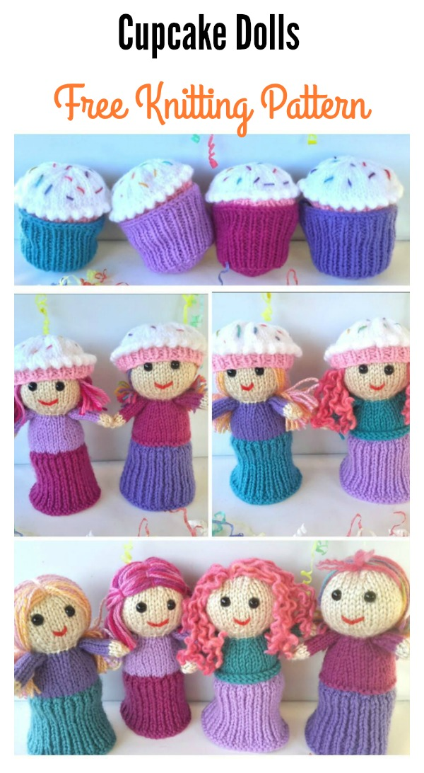 Cupcake Dolls Free Knitting Pattern