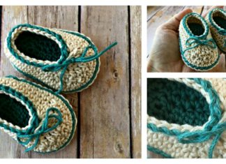 Cute Basic Baby Booties Free Crochet Pattern