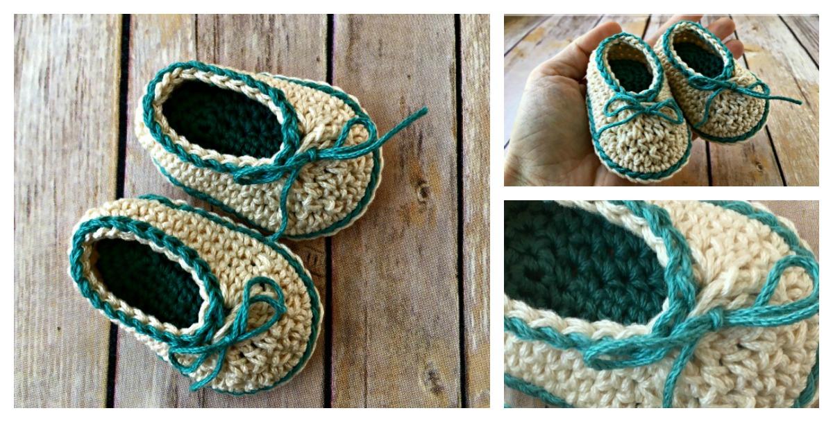 Cute Basic Baby Booties Free Crochet Pattern