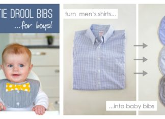 DIY Baby Bow Tie Drool Bib From a Shirt