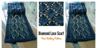 Easy Diamond Lace Scarf Free Knitting Pattern