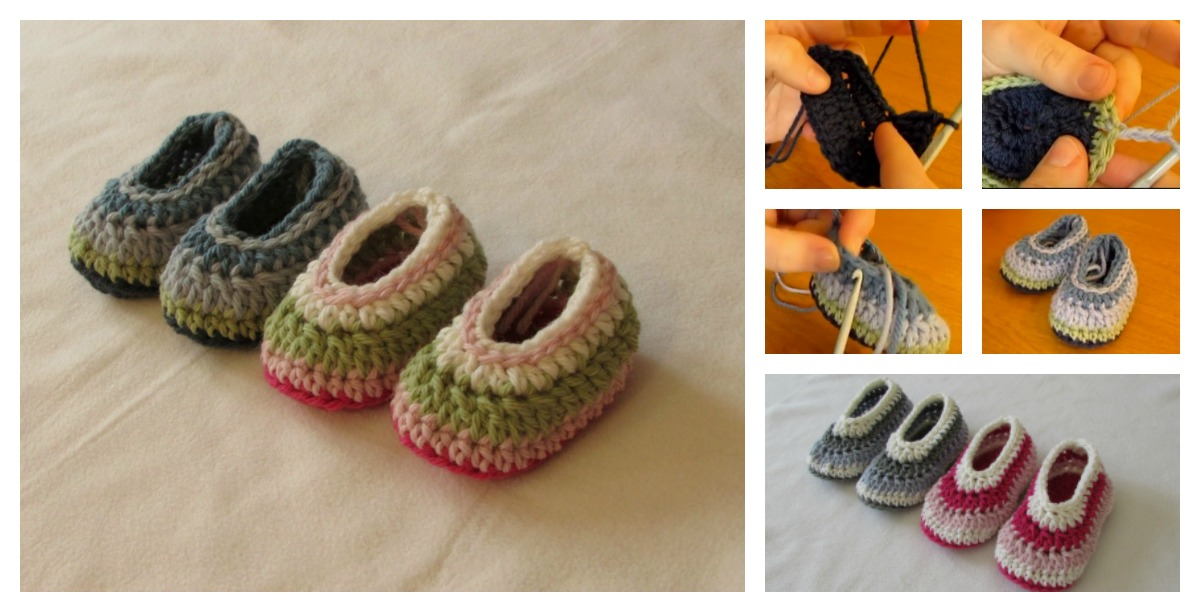 How To Crochet Easy Baby Slippers For Beginners