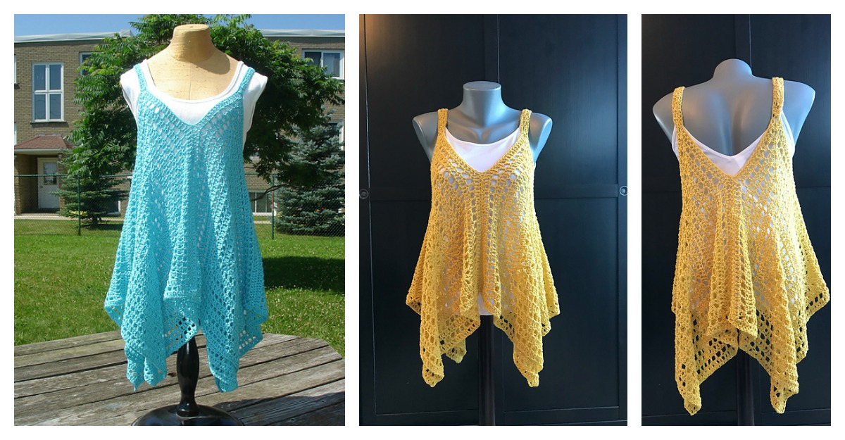 Kanata Kerchief Tank Top Free Crochet Pattern