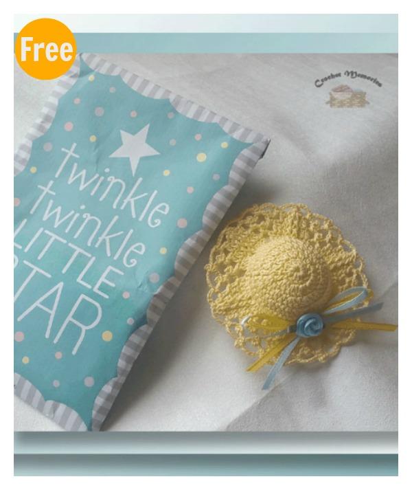 ... Baby Shower Favors. Mini Sun Hat Free Crochet Pattern