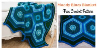 Moody Blues Blanket Free Crochet Pattern