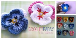 Pansy Flower Free Crochet Pattern