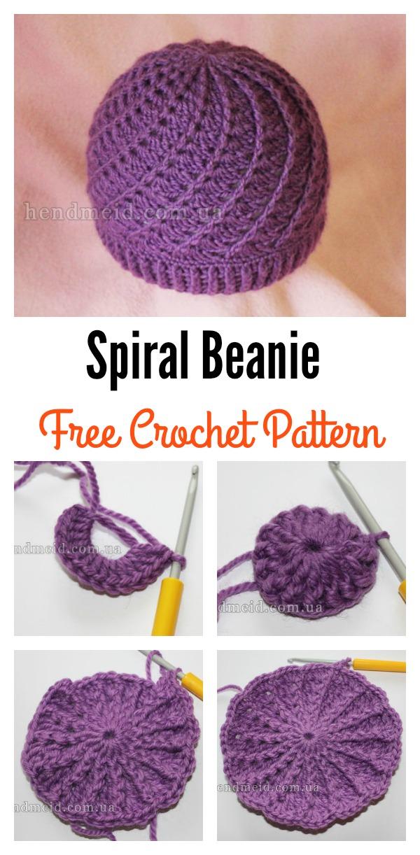 Slouchy Spiral Beanie Free Crochet Pattern bec3e607cae