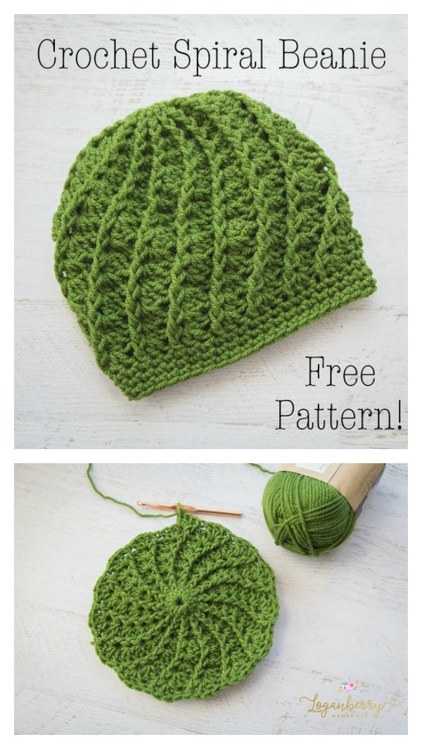 Slouchy Spiral Hat Free Crochet Pattern 77ae66db976