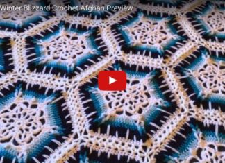 Snowflake Crochet Afghan with Free Pattern & Video Tutorial