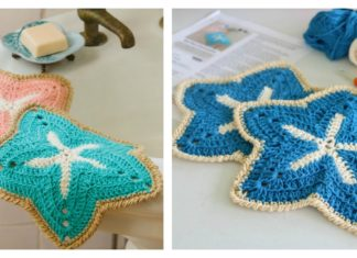 Starfish Dishcloths Free Crochet Pattern